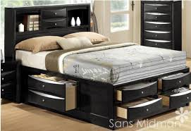 Bed Frames With Storage Drawers And Headboard Sized Beds Storage Drawers Underneath Wood Bed