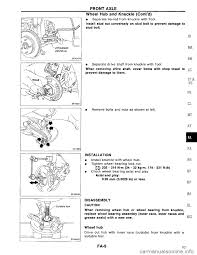 nissan maxima axle seal leak nissan maxima 1994 a32 4 g front suspension workshop manual