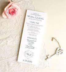 wedding ceremony program template free wedding program template 41 free word pdf psd documents
