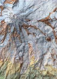 Washington State Topographic Map by Mount Rainier Topo Map