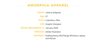 spreadshirt select shop of the month amorphia apparel the us