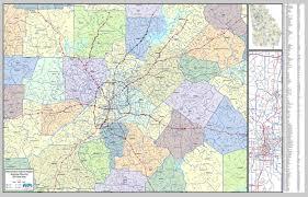 map of atlanta metro area wall map metro atlanta region laminated
