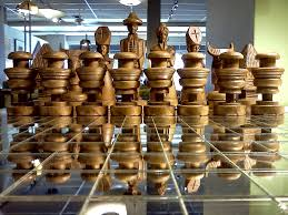 beautiful hand carved chess set in rosewood and teak cool stuff