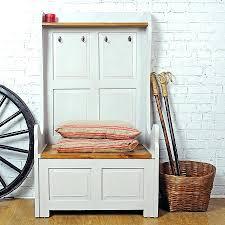 Hallway Bench Storage by Hallway Storage Bench With 3 Wicker Basketshallway For Shoes