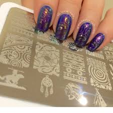 review aztec pattern stamping plate keely u0027s nails