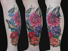 flowers leg sleeve tattoo design in 2017 real photo pictures