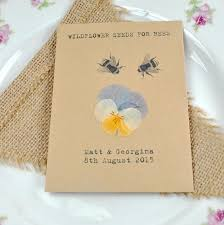 wildflower seed packets pressed flower recycled seed packet wedding favour wedding