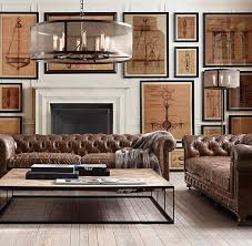 Large Leather Sofa Best 25 Chesterfield Living Room Ideas On Pinterest