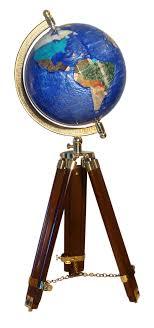 bureau trepied globe terrestre de bureau 22 cm bleu cambridge trépied bois