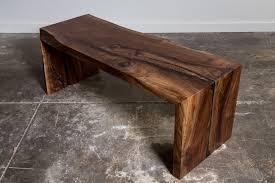 waterfall coffee table wood walnut waterfall bench bench furniture ideas and live edge furniture