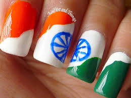 nailart and things independence day nail art indian