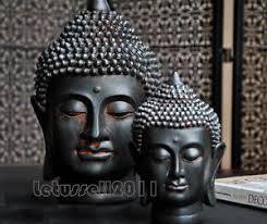 balinese black buddha statue sculpture home decorative