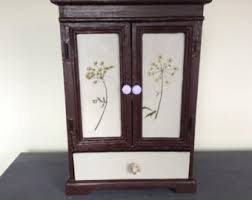 Jewelry Armoire Vintage Vintage Large Jewelry Armoire Etsy