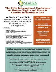 international organizations for human rights fifth int l conference on human rights and peace conflict in sea