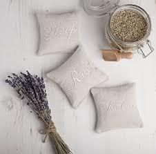 sleep rest relax linen lavender pillows by elm tree studio