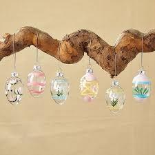 glass easter egg ornaments handpainted glass easter egg ornaments set of 12 6