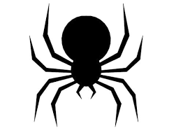 halloween spider silhouettes printable pictures
