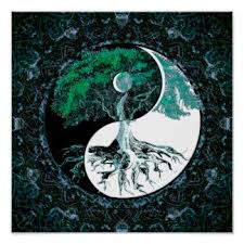 yin yang tree posters framed artwork zazzle co uk