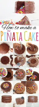 how to make a cake step by step food design how to make a pinata cake a designer