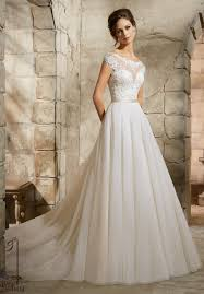 tulle wedding dresses uk embroidered appliqués on soft tulle wedding dress style 5362