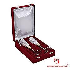 Wine Set Gifts International Gift Handmade Engraved Silver Plated Brass Wine