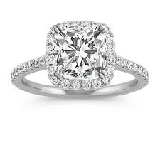 cushion diamond ring halo diamond engagement ring for 2 00 carat cushion cut shane co