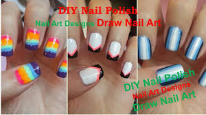 diy nail polish art designs gel nails art ideas acrylic nails