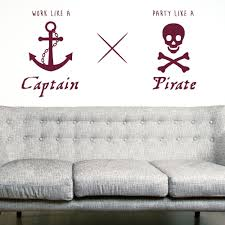 online get cheap pirate wall mural aliexpress com alibaba group work like a captain pirate wall art sticker decal home diy decoration decor wall mural removable