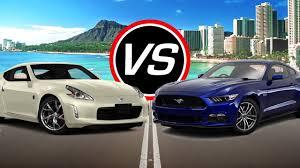 Z370 Specs 2016 Nissan 370z Vs Ford Mustang Gt Spec Comparison Youtube