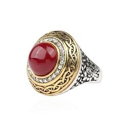 red jewelry rings images Luxury vintage wedding ring fashion round gold band inlay resin jpg