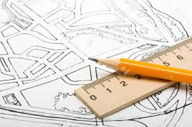 architectural plan and drawing tools stock photo picture and