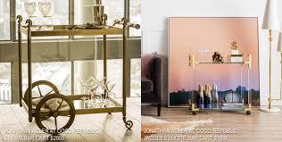 Jonathan Adler Bar Cabinet Best Bar Carts U0026 Cabinets Dapperlounge