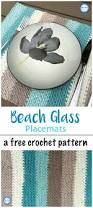 beach glass placemats cotton cake moss stitch and placemat