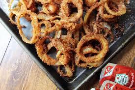 best onion rings images Crispy thin onion rings secret ingredient dinner then dessert jpg