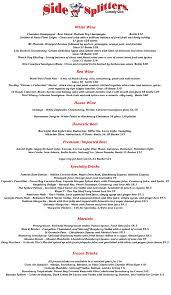 blue martini menu menu side splitters comedy club tampa