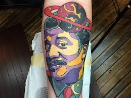 tattoo neil degrasse tyson space planet saturn colour