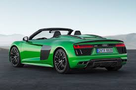 audi r8 blacked out the hulk goes new audi r8 spyder v10 plus revealed by car