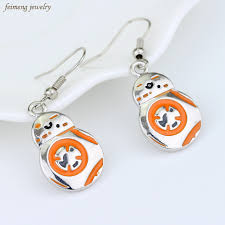 wars earrings wars earrings the awakens bb8 bb 8 droid robot