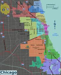 chicago map with attractions chicago wikitravel