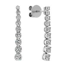 dangle diamond earrings diamond dangle earrings in 14k white gold shane co