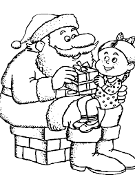 christmas coloring pages printable santa and kid christmas