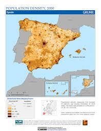 Maps Spain by Maps Population Density Grid V1 Sedac