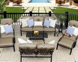 Patio Club Chairs Elisabeth 8pc Seating Set 1 Sofa 1 Loveseat 2 Adjustable