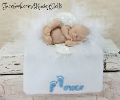 baby memorial ornament keepsake large wings and personalized