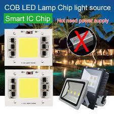 smart outdoor flood light cob led l chip light source smart ic driver 20 30 50w diy for