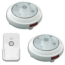 puck lights battery operated with remote set of 2 bed