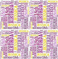 birthday gift wrap personalised 18th birthday gift wrap any name age word design