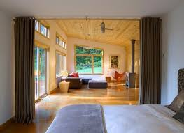 Dividing A Bedroom With Curtains How To Add Privacy And Make A Statement With A Curtain Wall