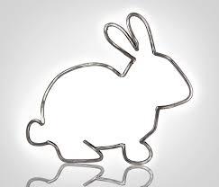 metal bunny outline metal rabbit outline bunny sculpture