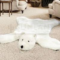 Polar Bear Fur Rug Fake Fur Animal Skin Rugs Bear Deer Moose